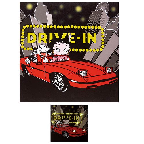 Betty Boop Drive-In Betty Light-Up Canvas Print