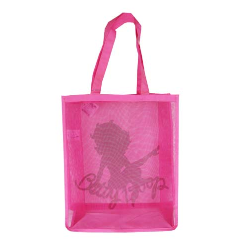 Betty Boop Silhouette Hot Pink Mesh Tote Bag