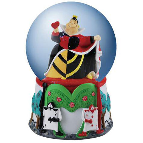 Alice in Wonderland Queen of Hearts Water Globe