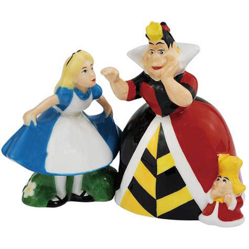 Alice in Wonderland & Queen of Hearts Salt & Pepper Shakers