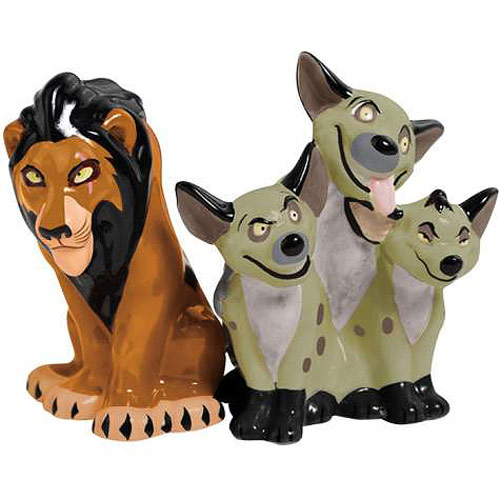 The Lion King Scar and Hyenas Salt & Pepper Shakers