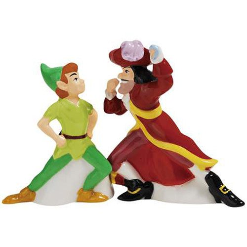 Peter Pan and Captain Hook Salt & Pepper Shakers