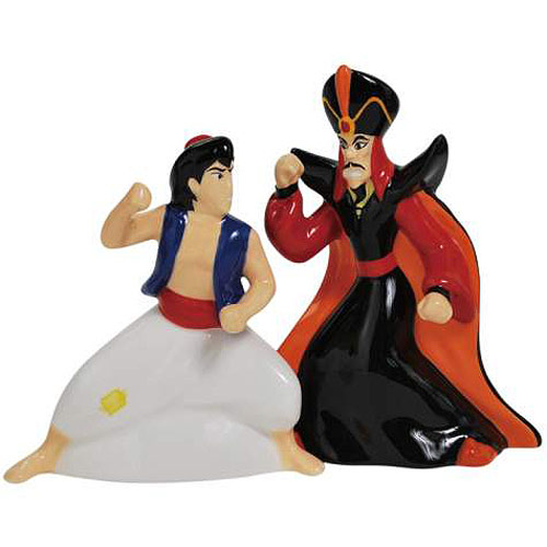 Aladdin and Jafar Salt & Pepper Shakers