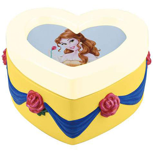 Beauty and the Beast Belle Heart Trinket Box