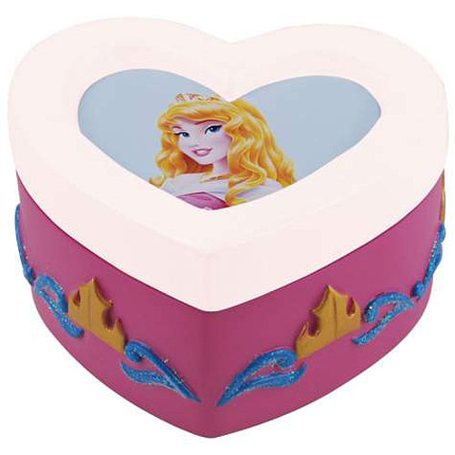 Sleeping Beauty Princess Aurora Heart Trinket Box