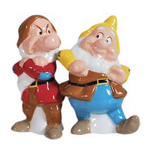 Snow White Grumpy and Happy Salt and Pepper Shakers