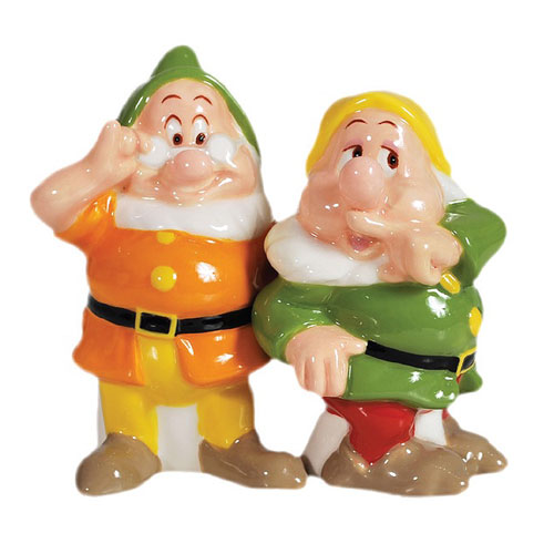 Snow White Doc and Sneezy Salt and Pepper Shakers