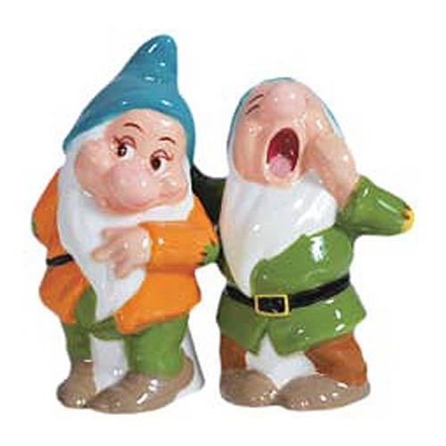 Snow White Bashful and Sleepy Salt and Pepper Shakers