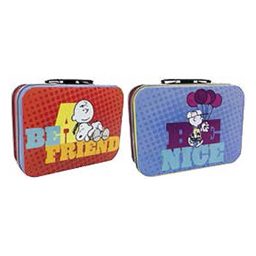 Peanuts Be a Friend Be Nice Mini Tin Tote