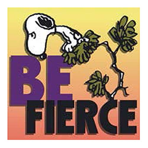 Peanuts Snoopy Be Fierce Canvas Print
