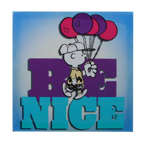 Peanuts Charlie Brown Be Nice Canvas Print