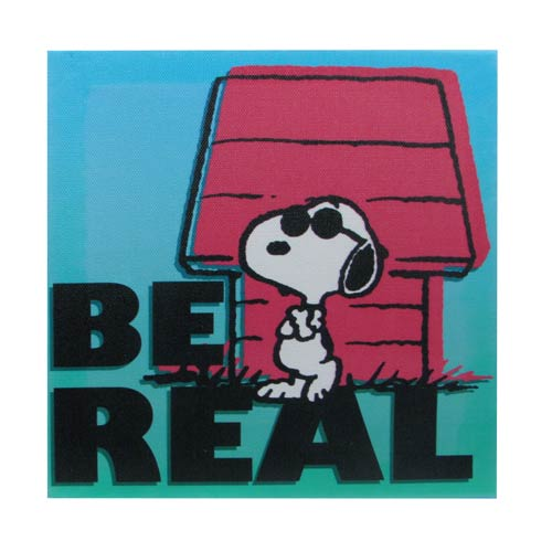 Peanuts Snoopy Be Real Canvas Print