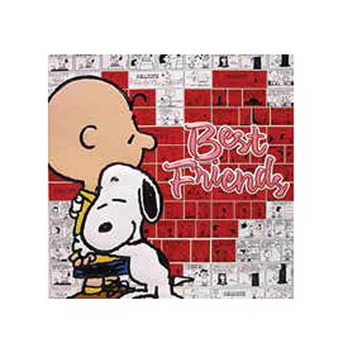Peanuts Best Friends Embossed Tin Art