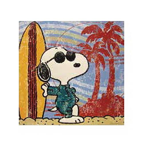 Peanuts Surf's Up Embossed Tin Art