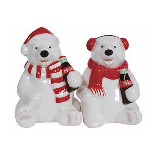Coca-Cola Holiday Polar Bears Salt and Pepper Shaker Set