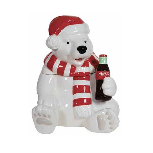 Coca-Cola Holiday Polar Bear Cookie Jar