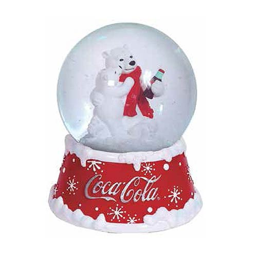 Coca-Cola Holiday Polar Bears 4-Inch Musical Snow Globe