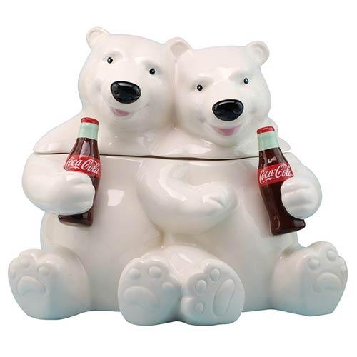 Coca-Cola Hugging Bears Cookie Jar