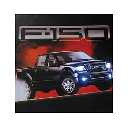 Ford Black F-150 Light-Up Canvas Print