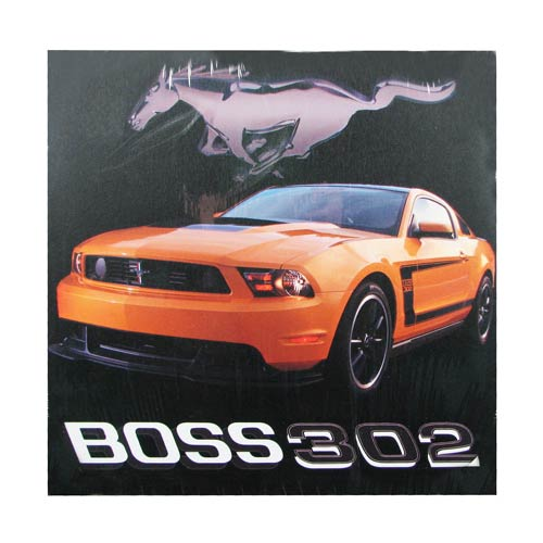 Ford Yellow Boss 302 Mustang Light-Up Canvas Print