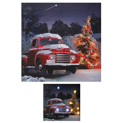 Ford 1940s F-1 Tree Lights Light-Up Canvas Print
