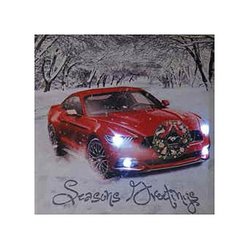 Ford Mustang Seasons Greetings Light-Up Canvas Print