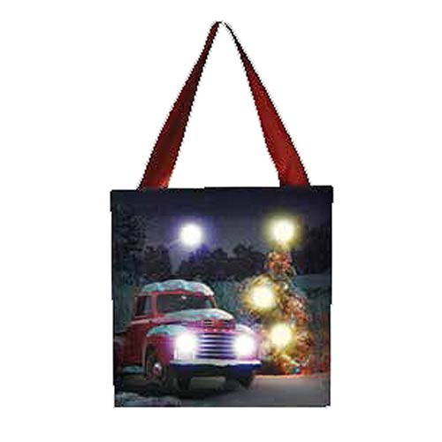 Ford 1940s F-1 Tree Lights Hanging Light-Up Canvas Print