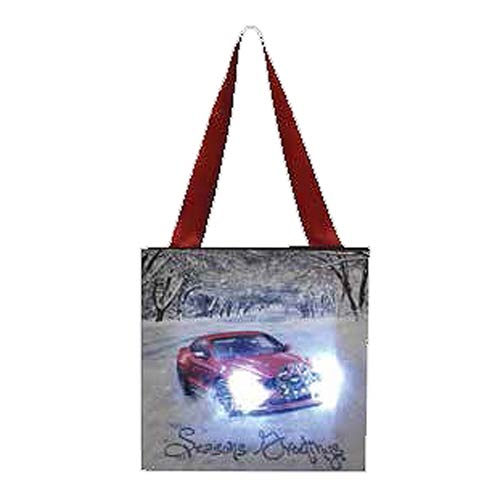 Ford Mustang Seasons Greetings Hanging Light-Up Print