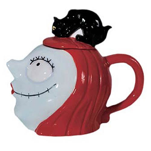 Nightmare Before Christmas Sally with Cat 32 oz. Teapot
