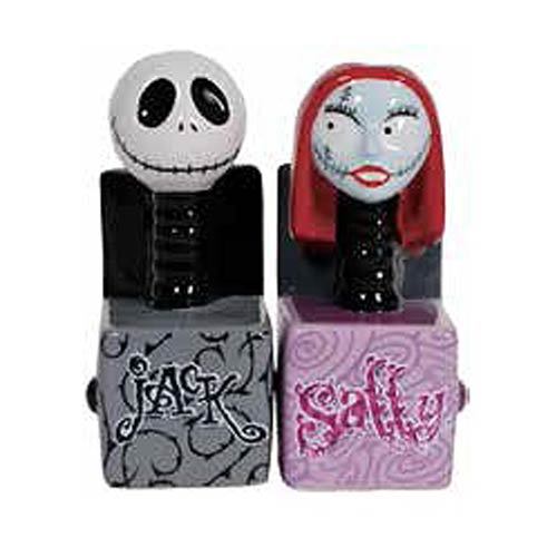 NBX Jack and Sally in the Box Salt and Pepper Shakers