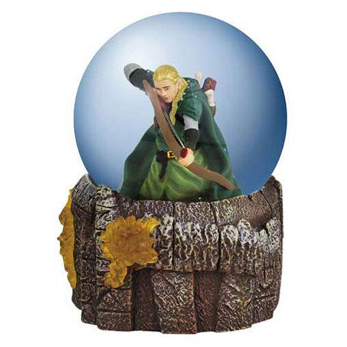 Lord of the Rings Legolas in Battle Water Globe