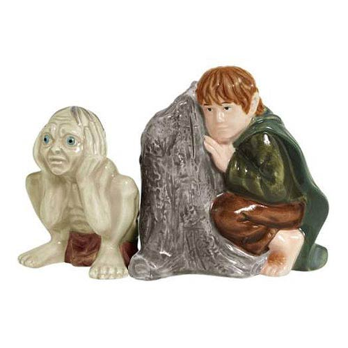 LOTR Gollum and Samwise Salt and Pepper Shakers, Not Mint