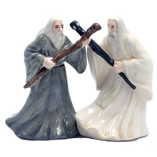 LotR Gandalf and Saruman Salt and Pepper Shakers