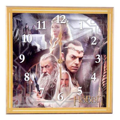The Hobbit An Unexpected Journey White Council Wall Clock