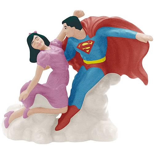 Superman and Lois Lane Salt and Pepper Shaker Set