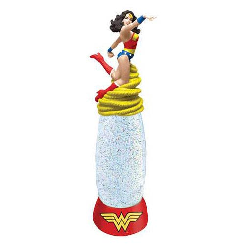 Wonder Woman Glitter Globe Lamp