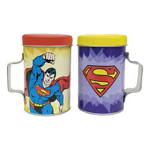 Superman Tin Salt and Pepper Shakers