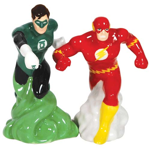 DC Comics Green Lantern and Flash Salt and Pepper Shakers