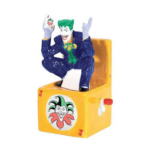 Batman The Joker in a Box Salt and Pepper Shakers