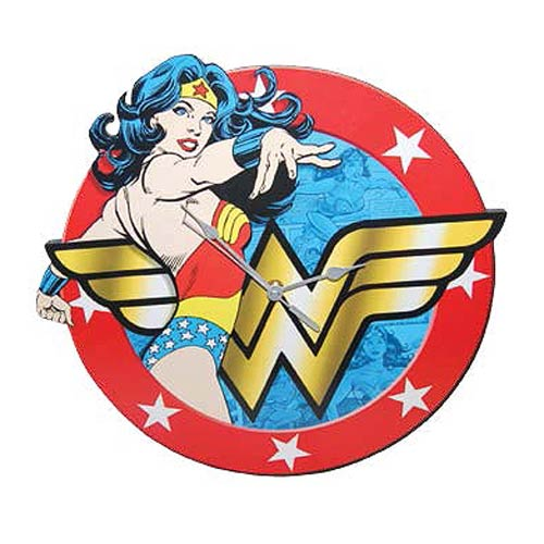 Wonder Woman Wood Wall Clock