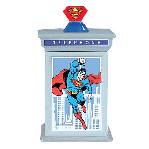 Superman Phone Booth Cookie Jar