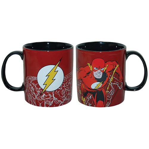The Flash Stoneware 14 oz. Red Mug