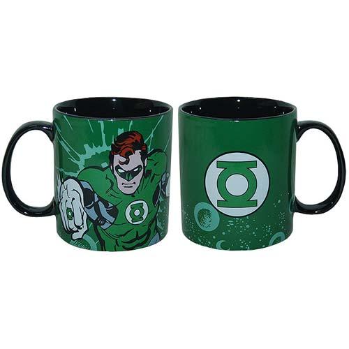 Green Lantern Stoneware 14 oz. Green Mug