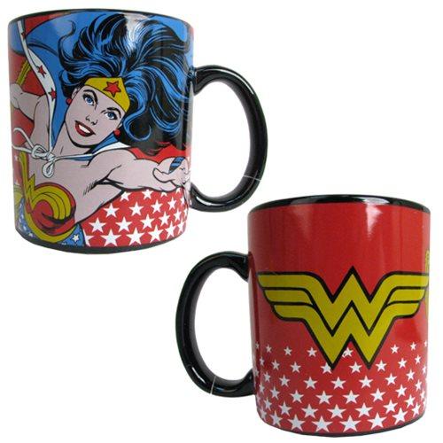 Wonder Woman Stoneware 14 oz. Red Mug