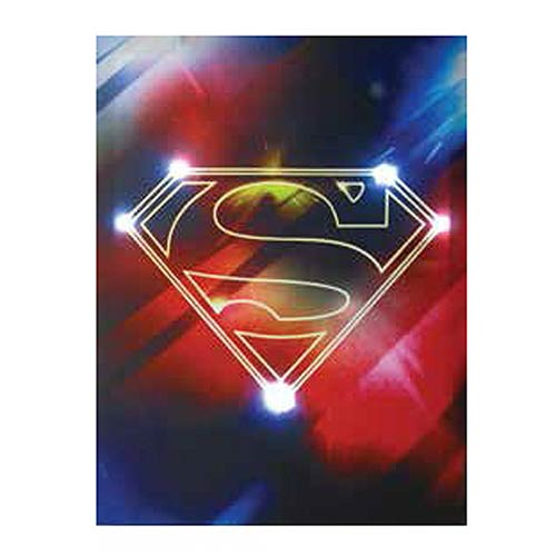 Superman Shield Light-Up Canvas Print