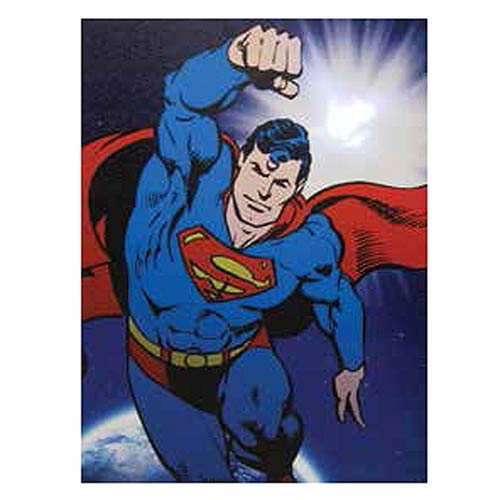 Superman Flying Light-Up Canvas Print
