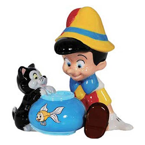 Pinocchio and Figaro Salt and Pepper Shakers