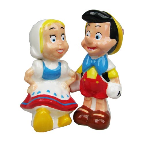 Pinocchio and Doll Salt and Pepper Shakers