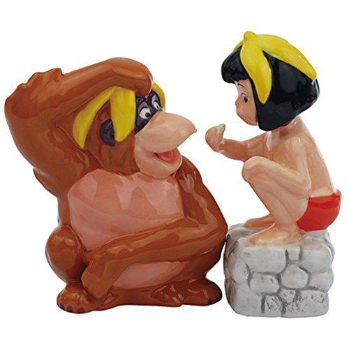 Jungle Book King Louie and Mowgli Salt and Pepper Shaker Set