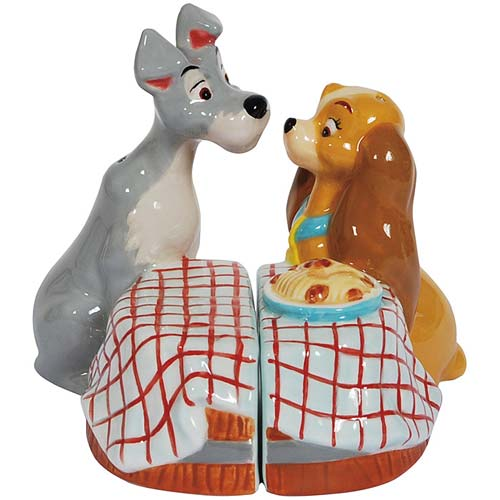 Lady and the Tramp First Kiss Salt and Pepper Shaker Set